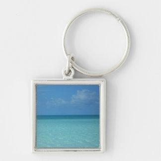 カリブのな地平線の熱帯青緑 キーホルダー