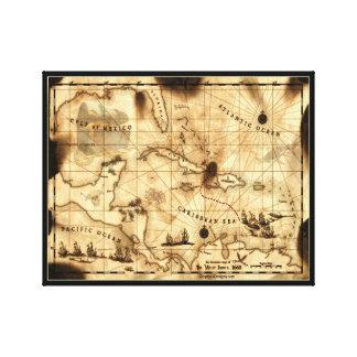 カリブのな宝物地図 キャンバスプリント