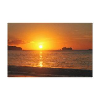カリブのな日没 キャンバスプリント