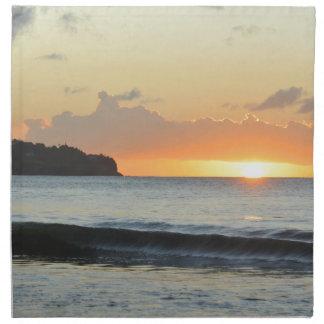 カリブのな日没 ナプキンクロス