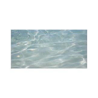 カリブのな水抽象芸術の青の自然 キャンバスプリント