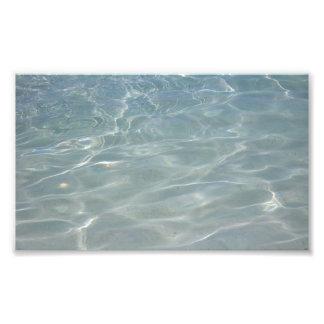 カリブのな水抽象芸術の青の自然 フォトプリント