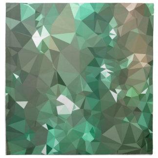 カリブのな緑の抽象芸術の低い多角形の背景 ナプキンクロス