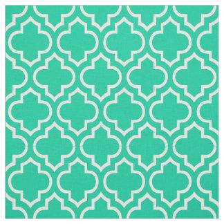 カリブのな緑、白いモロッコのクローバー#6 ファブリック