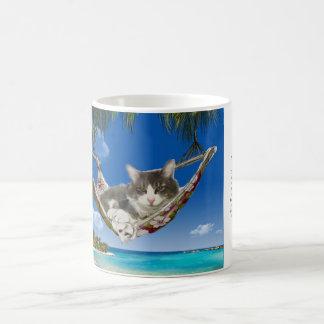 カリブのののコーデュロイ(ハンモックの猫) コーヒーマグカップ