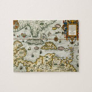 カリブのののヴィンテージの地図(1594年) ジグソーパズル