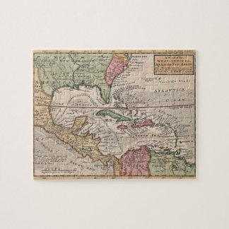 カリブのののヴィンテージの地図(1732年) ジグソーパズル