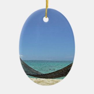 カリブのビーチ セラミックオーナメント