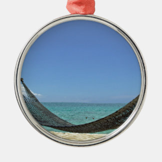 カリブのビーチ メタルオーナメント