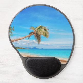 カリブの熱帯ビーチ ジェルマウスパッド