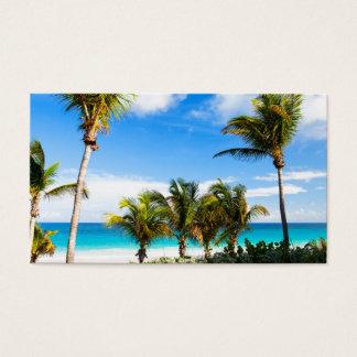 カリブの美しいビーチ 名刺
