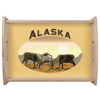 カリブーの決闘-アラスカ トレー