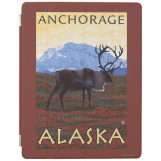 カリブー場面-アンカレッジ、アラスカ iPadスマートカバー