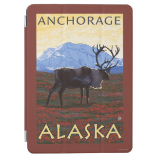 カリブー場面-アンカレッジ、アラスカ iPad AIR カバー