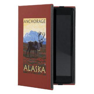カリブー場面-アンカレッジ、アラスカ iPad MINI ケース