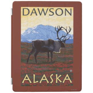 カリブー場面-ドーソン、アラスカ iPadスマートカバー