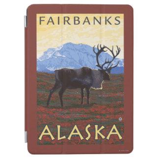 カリブー場面-フェアバンクス、アラスカ iPad AIR カバー