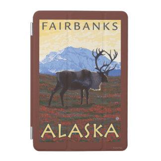 カリブー場面-フェアバンクス、アラスカ iPad MINIカバー