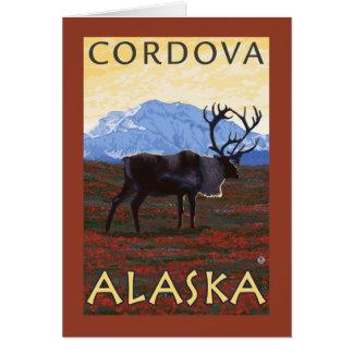カリブー場面- Cordova、アラスカ カード