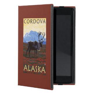 カリブー場面- Cordova、アラスカ iPad Mini ケース