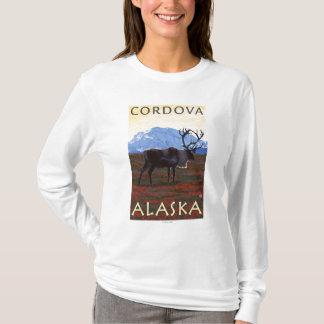 カリブー場面- Cordova、アラスカ Tシャツ