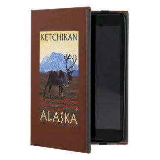 カリブー場面- Ketchikan、アラスカ iPad Mini ケース