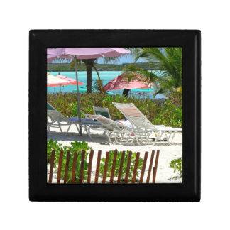 カリブ島のビーチ場面 ギフトボックス
