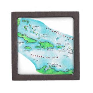 カリブ島の地図 ギフトボックス
