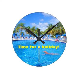 カリブ島 ラウンド壁時計