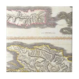 カリブ島(1815年)のヴィンテージの地図 タイル