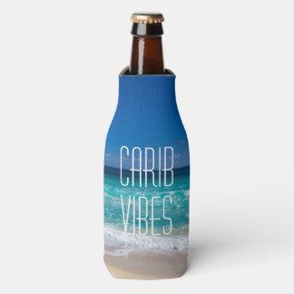 カリブ族の感情の名前の熱帯ビーチのターコイズ水 ボトルクーラー