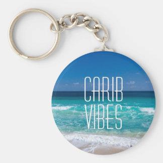 カリブ族の感情の熱帯ビーチのターコイズ水 キーホルダー