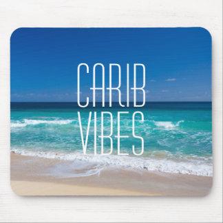 カリブ族の感情の熱帯ビーチのターコイズ水 マウスパッド