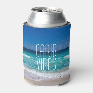 カリブ族の感情の熱帯ビーチのターコイズ水 缶クーラー