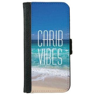 カリブ族の感情の熱帯ビーチのターコイズ水 iPhone 6/6S ウォレットケース