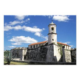 カリブ、キューバ、ハバナ。 古いハバナ、Castillo フォトプリント