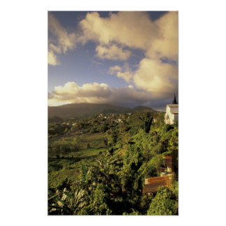 カリブ、フランス語西インド諸島、マルティニク ポスター