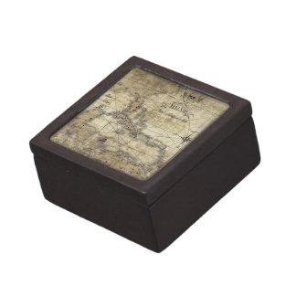 カリブ-古い地図 ギフトボックス