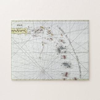 カリブ: 地図1775年 ジグソーパズル