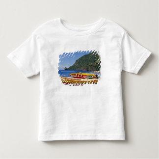 カリブ、BWI、セントルシアのヨット、Soufriere. トドラーTシャツ
