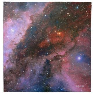カリーナのモノグラムのな星雲-息もつけないほど宇宙 ナプキンクロス