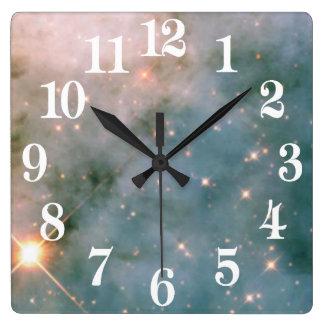 カリーナの明るい星雲 スクエア壁時計
