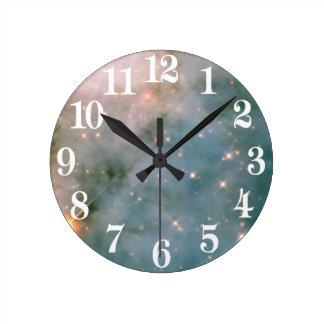 カリーナの明るい星雲 ラウンド壁時計