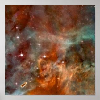 カリーナの星雲の大理石の一見NASA ポスター