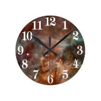 カリーナの星雲の大理石の一見NASA ラウンド壁時計