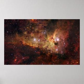 カリーナの星雲Eta Carinae ポスター