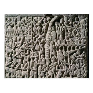 カルカソンヌの包囲を描写するレリーフ、浮き彫り ポストカード