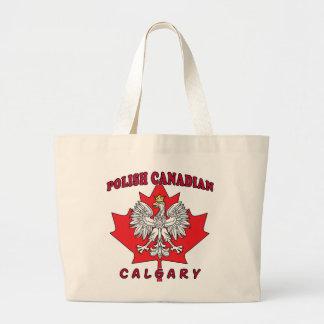 カルガリーのポーランドのカナダの葉 ラージトートバッグ