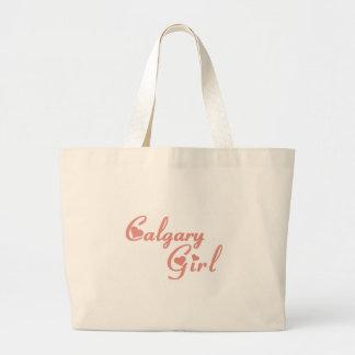 カルガリーの女の子 ラージトートバッグ