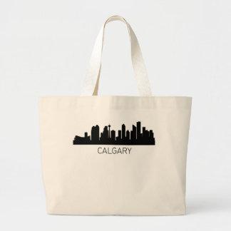 カルガリーアルバータの都市景観 ラージトートバッグ